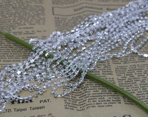 15 Feet of SS14 3.5mm 888 Clear Crystal Rhinestone Close Chain Trims Silver Brass Cup Chain