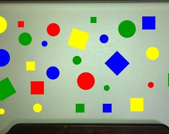 Squares and Dots Wall Decal