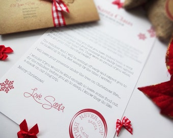 A lovely personalised letter from Santa.