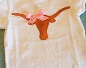 Girls Texas Longhorn Shirt or Onesie