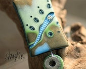 Sunkin Treasure Collection - Polymer Clay Pendant - WEARABLE ART
