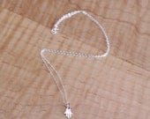 Dainty Sterling Silver Hand of Fatima Necklace