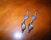Tibetan sugar skull with aquamarine earrings