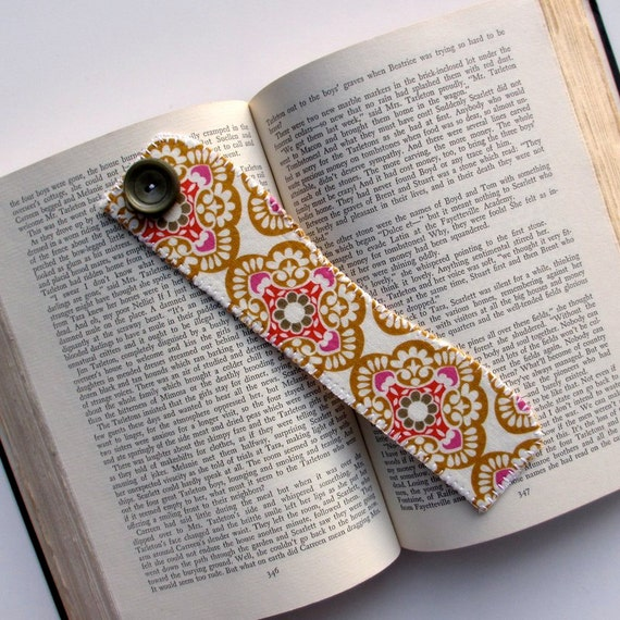 Bookmark, Fabric Bookmark, Bohemian Book Mark