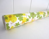 Vintage Contact Paper Roll - Avocado Blossoms - Yellow and Green Magic Cover - 4 yards roll