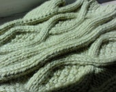 Reserved for Sam. Spring Green Cashmere blend fingerless mittens