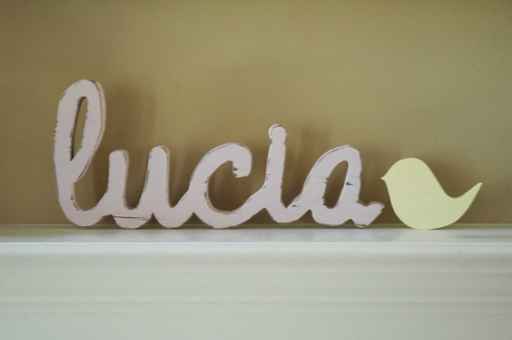 Wooden Nursery Letters, Baby Name Sign- Nursery, Home Decor