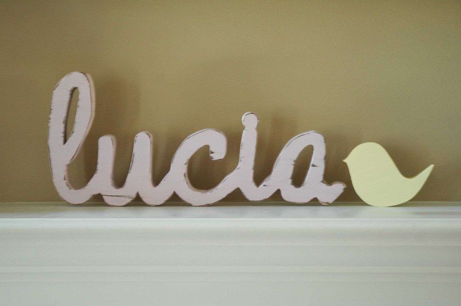 Wooden nursery letters baby name sign nursery home decor for Letter name signs