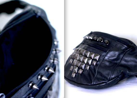 RESERVED Genuine Leather Spiked Fanny Pack