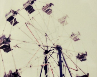 carnival, ferris wheel, polaroid, fine art photography