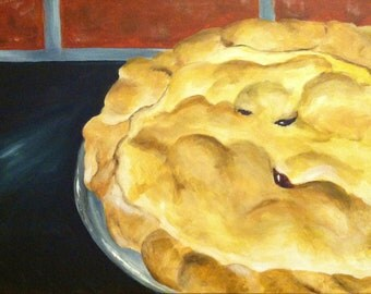 Original Acrylic Painting of a Fresh Baked Pie