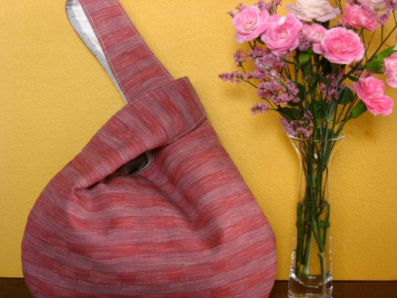 Japanese Knot Bag, Vintage fabric tote