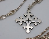 RESERVED LISTING: Vintage James Avery Sterling Silver Trinity Cross with Avery Chain RETIRED Offers Welcome