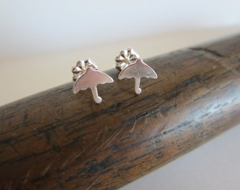 Whimsical Umbrella Sterling Silver Earrings