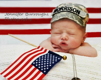 Personalized military cap, Infant Military cap