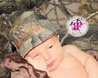 Camo hat, Baby hunting hat, Camo hat, hunting hat, baby camo hat,  oak hat, Baby oak hat, newborn photo prop, little hunter