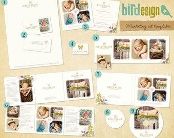 INSTANT DOWNLOAD - Pre-made Marketing Set - Butterflies - E463