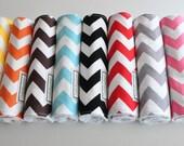Pick 4 CHEVRON Baby Burp Cloths, Riley Blake fabric
