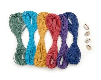 Shop Closing Sale! Colored Hemp Cord & Shell Jewelry Kit Sale