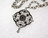 Swarovski Black Crystal Pendant Necklace