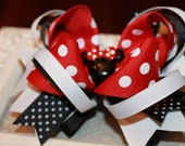 Minnie Mouse OTT Red & Black bow