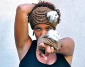 Women's texting gloves fingerless crochet handwarmers