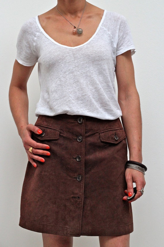 1970 Suede Skirt