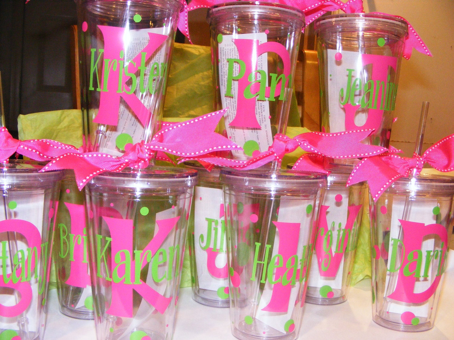 Personalized Tumblers W Straw Bpa Free Birthday By Cgirard5
