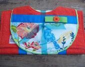 Hummingbirds and Flowers Bib and Burp Cloth Set