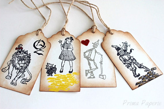 Wizard of Oz // Vintage Inspired // Gift Tags // Set of 6