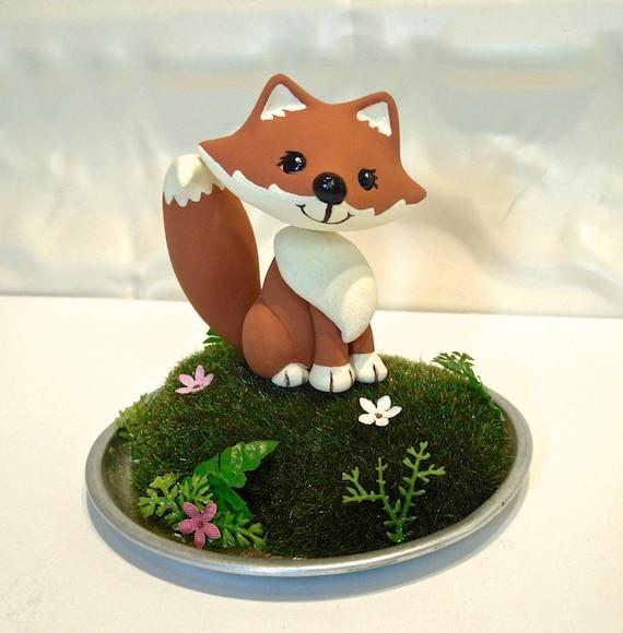 Plastic Fox Cake Topper