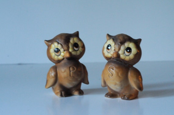 Salt And Pepper Shakers Josef Originals Vintage Owl Salt And Pepper Shakers