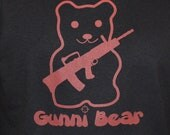 Right To Bear Arms Gunni Bear Red Mens Graphic Tee