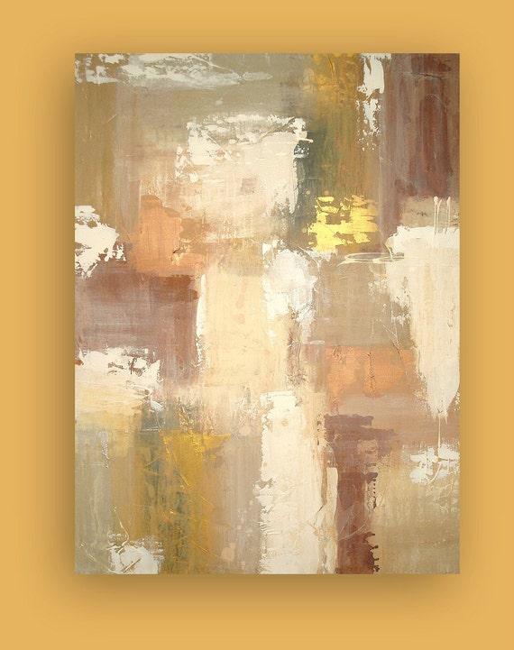 "Art Original Abstract Acrylic Large Painting Fine Art on Gallery Canvas Titled: BEACHWOOD 30x40x1.5"" by Ora Birenbaum"