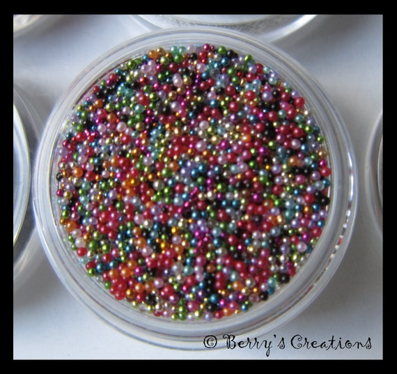 Color rainbow micro beads fish eggs caviar for creative for Caviar comes from what fish