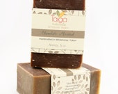 HALF PRICE Chocolate Almond Natural Vegan Cold Process Soap - Plantable Seed Paper Label. Made in Yukon, Canada