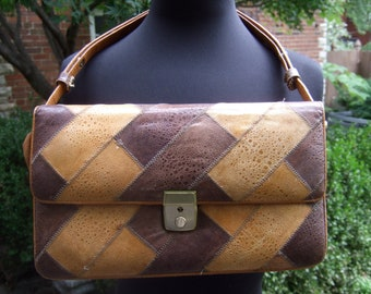 Genuine Frog Skin Vintage Handbag c 1970