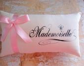 Mademoiselle Pillow, French Decor, Paris, French County Home, Cottage Decor, Home Decor, Decorative Pillow, Housewares