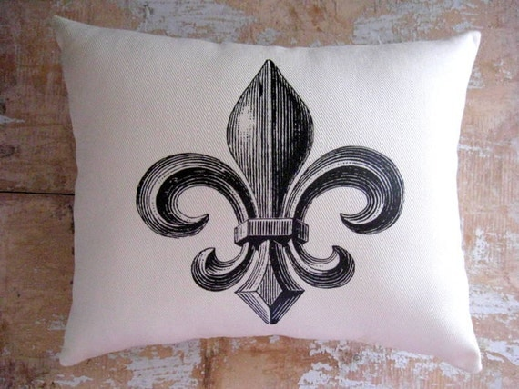 Fleur De Lis Pillow Paris Decor French Decor By