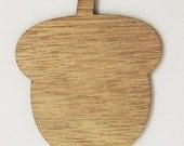 Acorn Wood Cut Out - Laser Cut