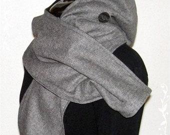 Hood anthracite black with fleece