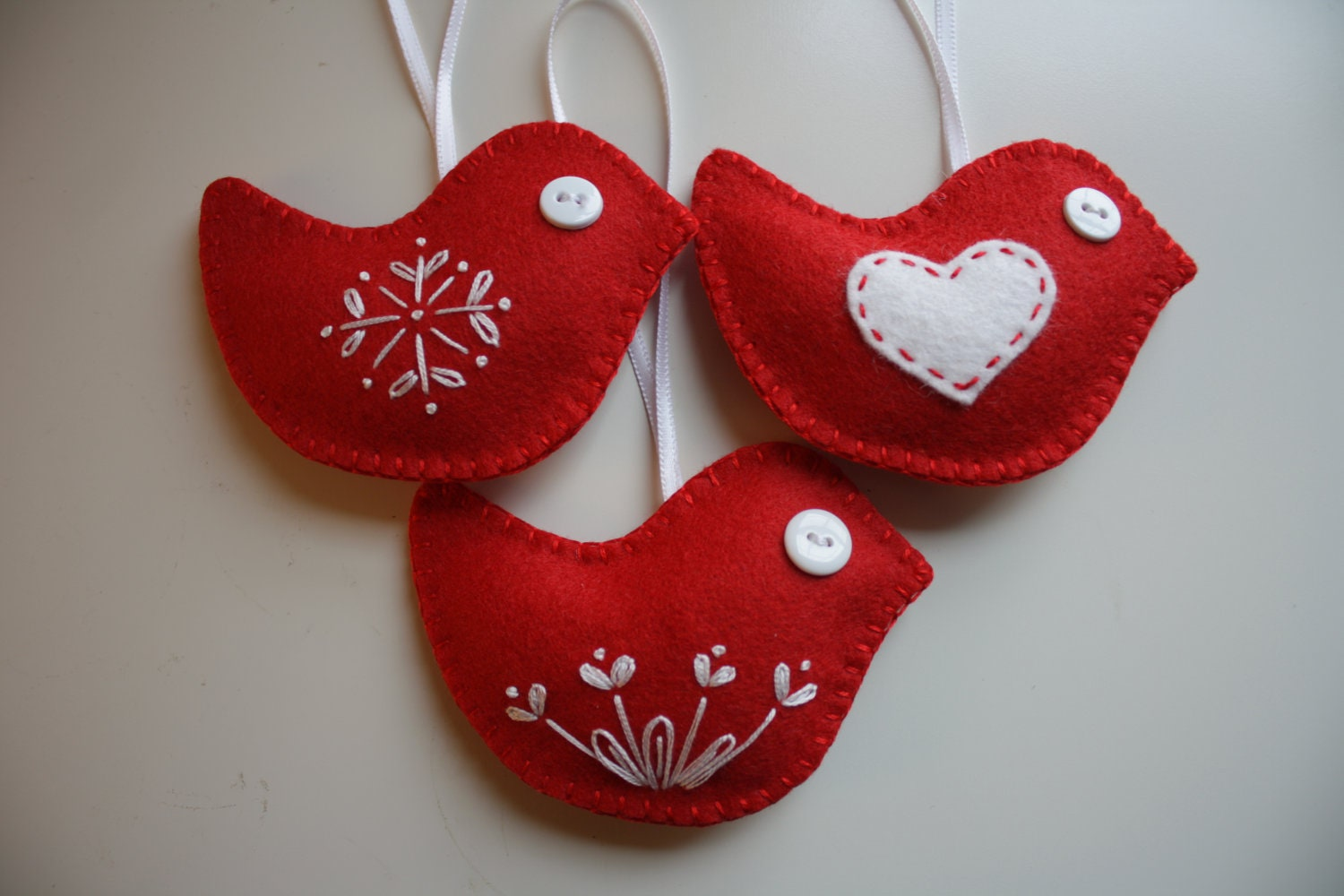 Christmas felt ornaments - Hand Made Felt Birds For Christmas Crafthubs