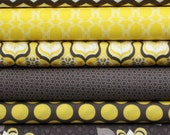 Gray & Yellow Fat Quarter Bundle