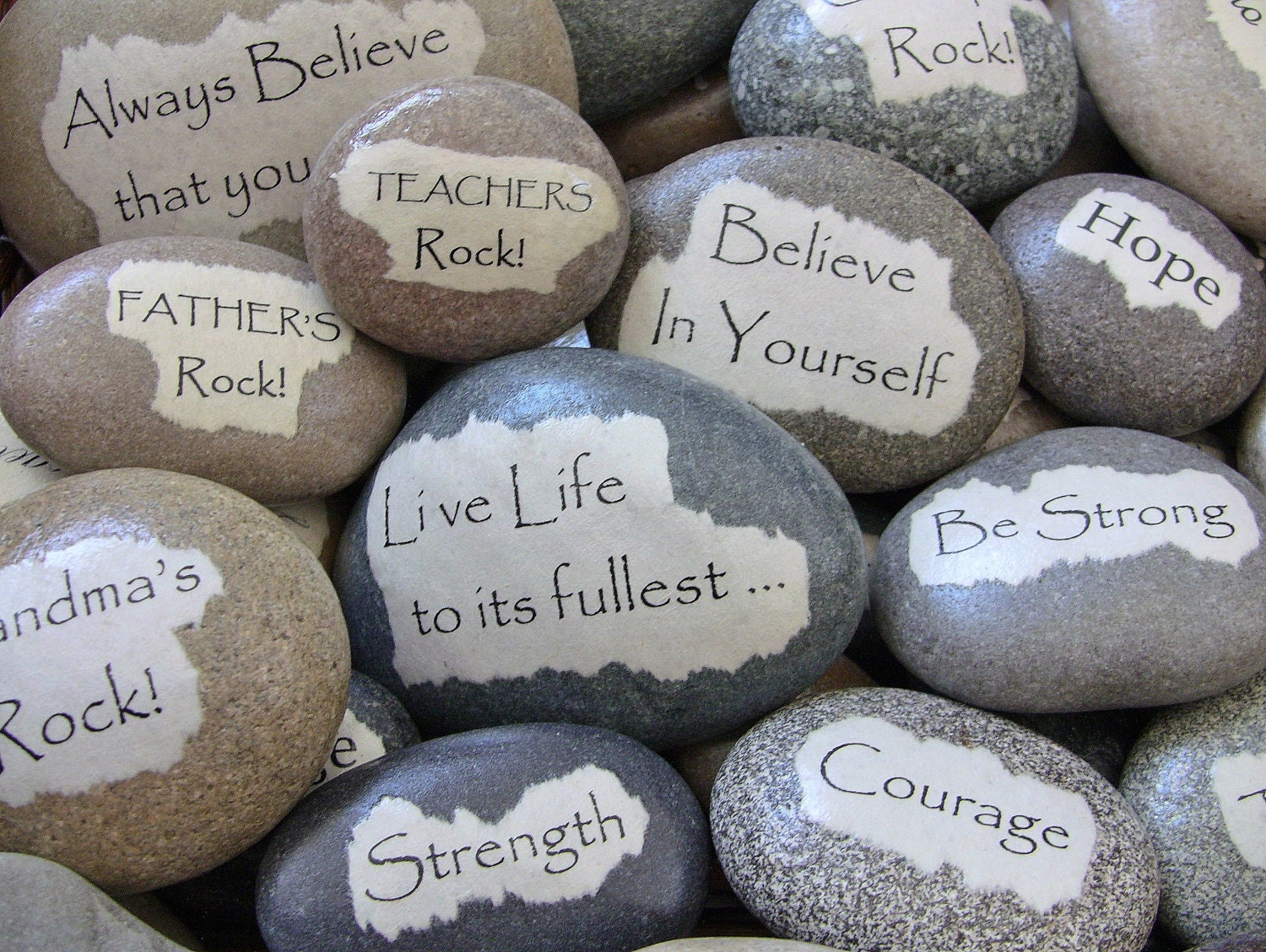 personalized gift custom message rock inspirational