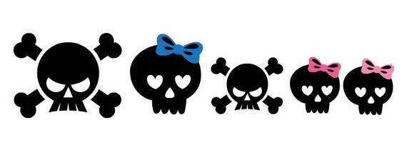 Skull Family Decal Stickers