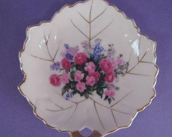Porcelain Leaf Trinket Dish, Made in Japan