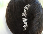 Maria Bella Set of two Swarovski crystal bridal hair comb