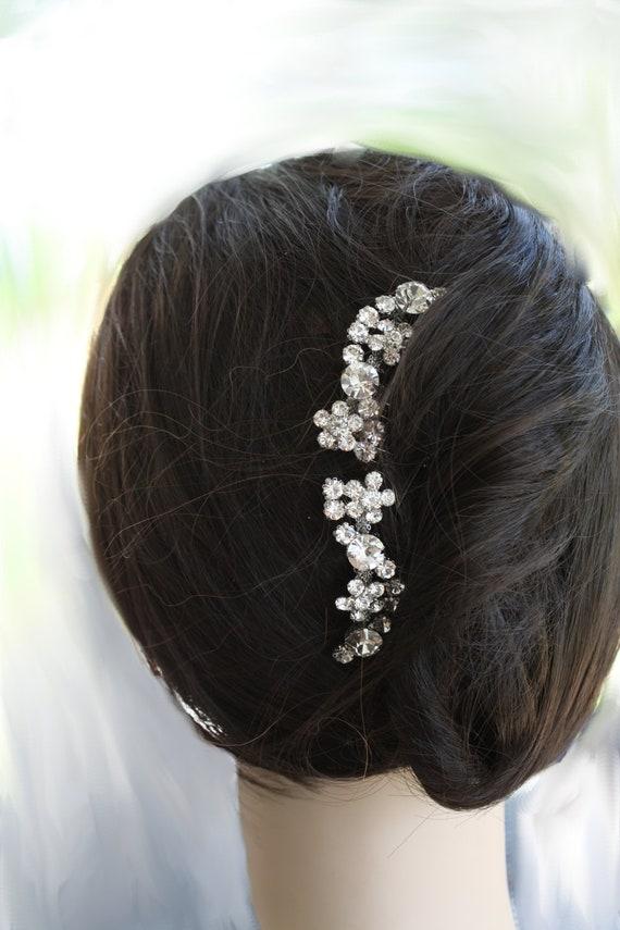 Maria Bella Set of two Swarovski crystal bridal hair comb