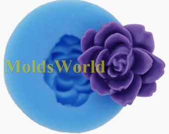 A365 Rose Flower Polymer Clay Silicone Mold Food Grade Silicon Mould For Crafts 18mm