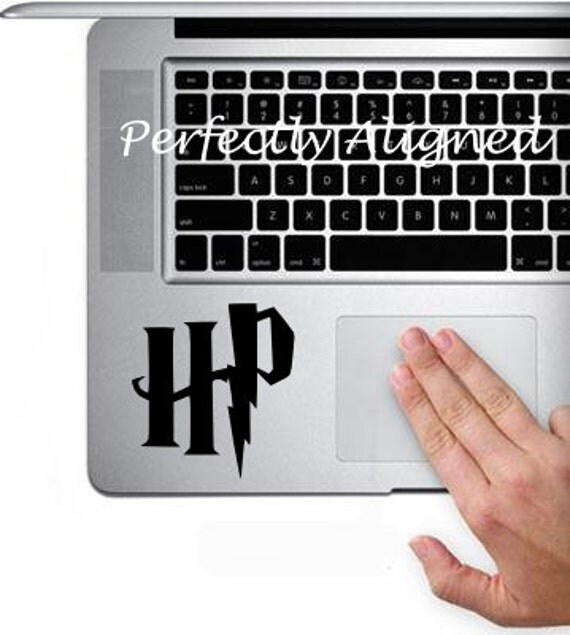 Vinyl Decal -  Harry Potter inspired Initials decal for Macbook Trackpad